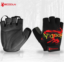Boodun Guantes Ciclismo Men Women Cycling Gloves SBR Palm Half Finger Shockproof Breathable Outdoor MTB Road Bike Bicycle Gloves цена