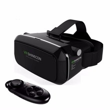Sizzling!2016 Google Cardboard VR shinecon Professional Model VR Digital Actuality 3D Glasses +Sensible Bluetooth Wi-fi Distant Management Gamepad