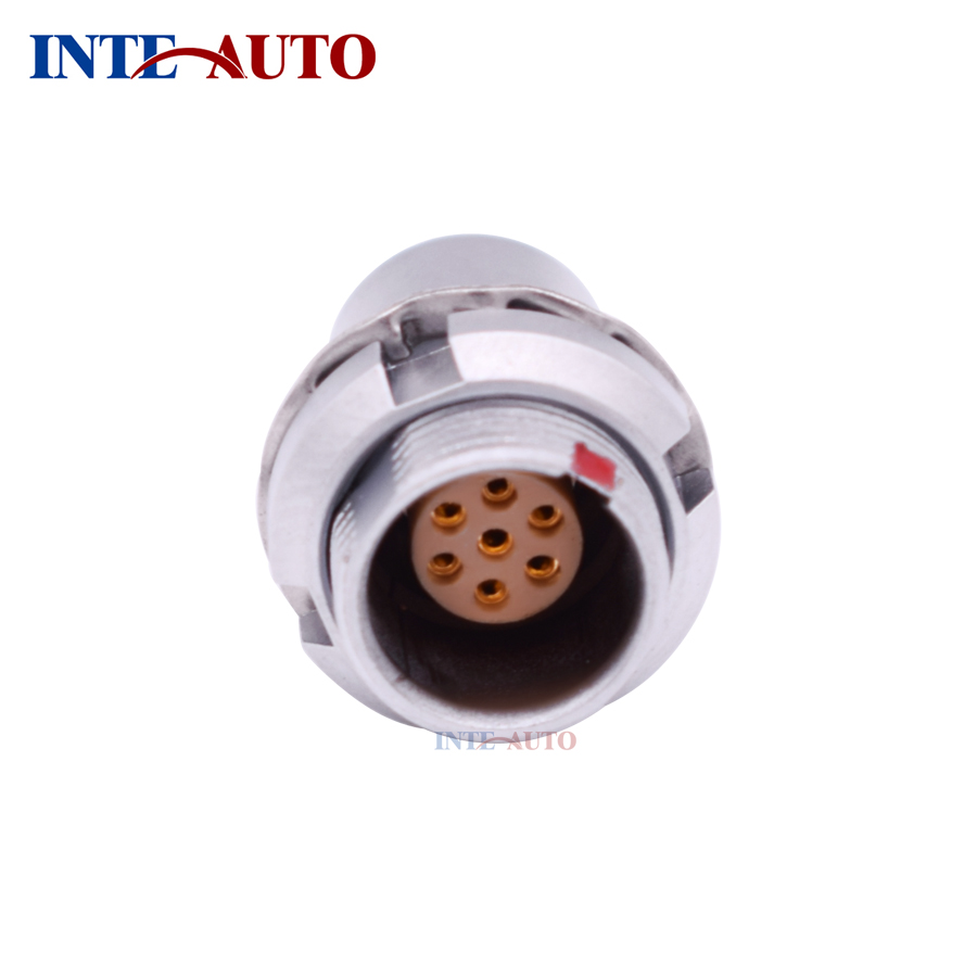 Supply 2018 new metal ODU lemo compatible 7 pins M12 female connector,Fixed receptacle EEG 1B 307 replace lemos m12 electrical push pull round connector m12 size brass body 8 solder contacts fgg 1b 308 phg 1b 308