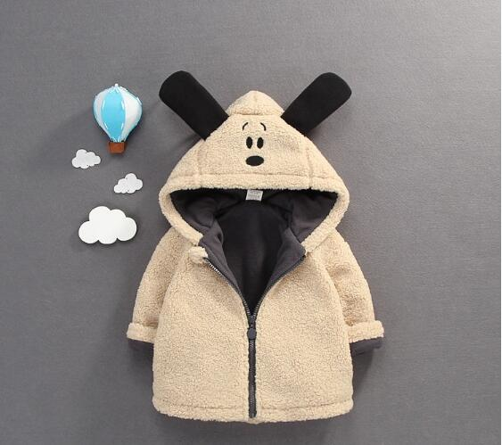 Baby Boy's Fashion Hooded Coats 2017 Winter Cartoons Fleece Dog Long Sleeve Thicken Jackets Children's Clothing Warm Outerwear warm thicken baby rompers long sleeve organic cotton autumn
