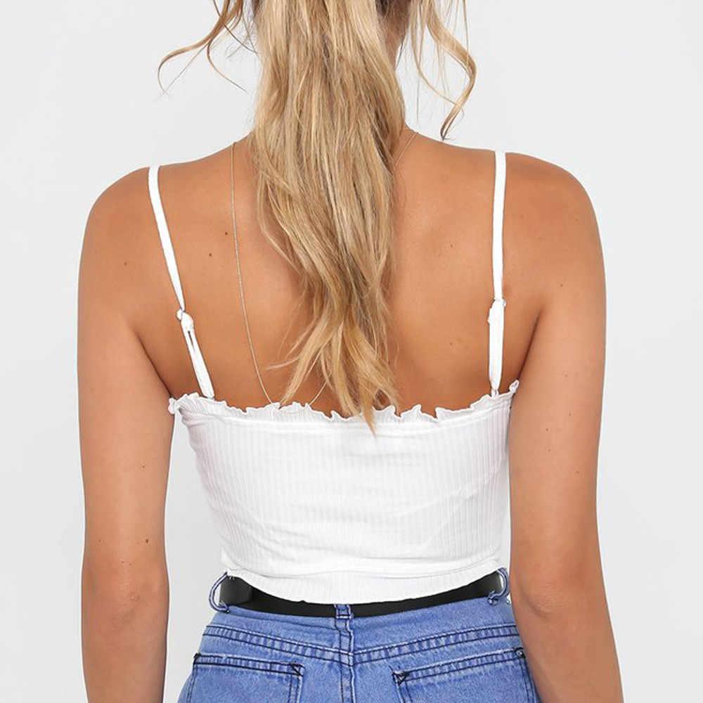 オフショルダーホルターブラウスファッションレディースフリルトップス女性の夏のセクシーなシャツ衣類 Camisas Femininas 201825