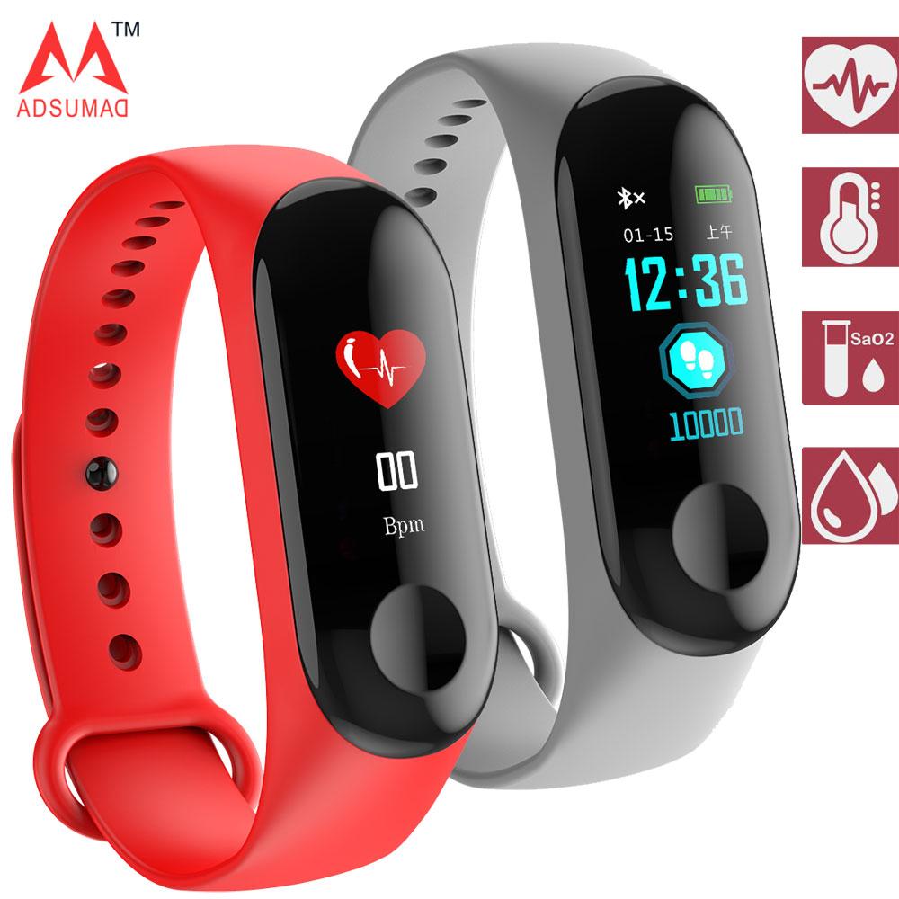 Smart Bracelet M3C IP68 waterproof IPS full color display heart rate monitor blood pressure monitoring band цена