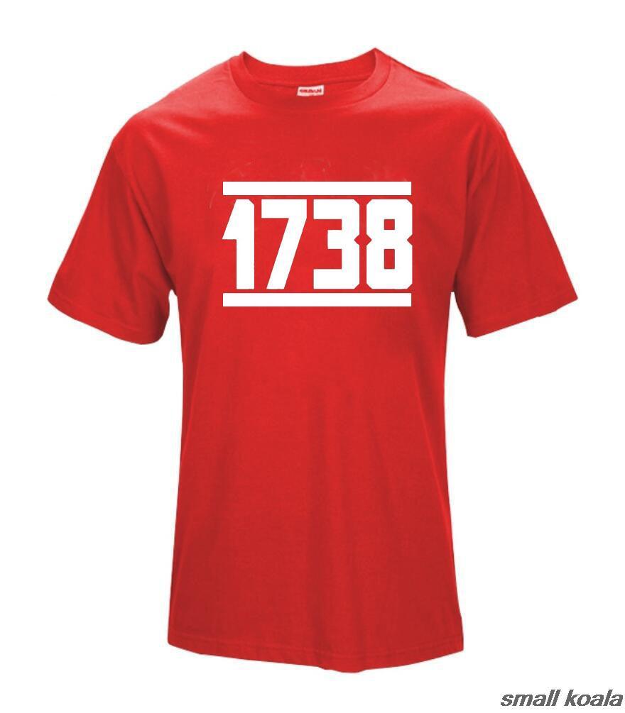 1738 Fetty Wap T Shirt Mens Remy Boyz Trap Queen Drake Drizzy Hip Hop Custom Cotton Short Slever T-Shirt Red