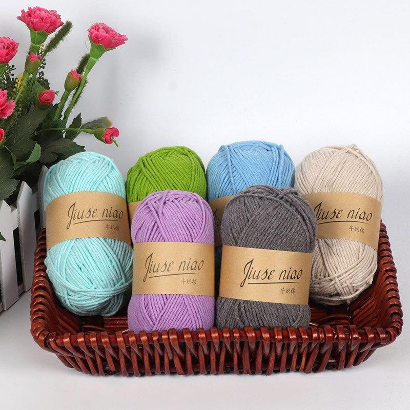 Collezione Qui 1 Pcs Di Colore Solido Lane E Filati Matasse 41 Colori In Morbida Lana Crochet 50g Di Lavoro A Maglia Lane E Filati Mestiere Lbshipping