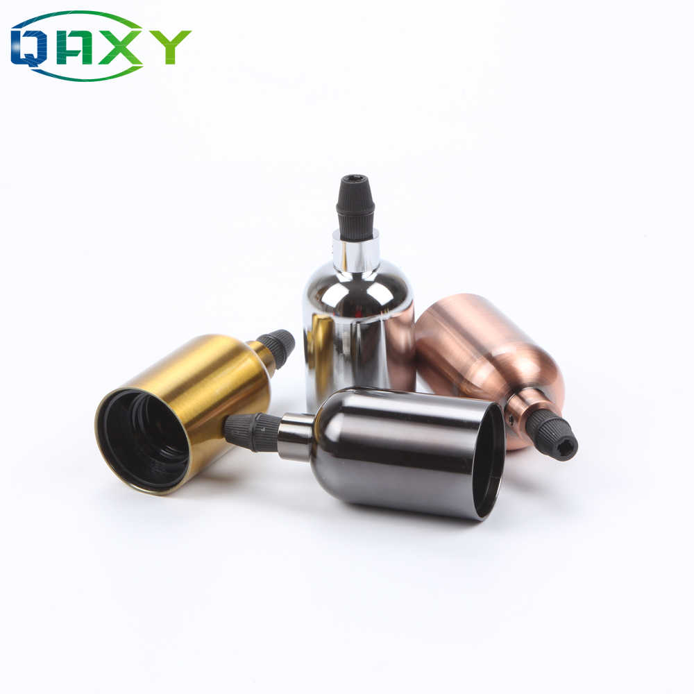 New Installed Whole Holder High Quality Vintage Socket Light Holder AC 90-260V E27&E26 Chrome Shining Black Copper Holder[D2581]