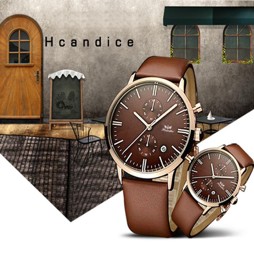 relogios Men Watch Fashion Noctilucent Leather Band Quartz Watch Wrist Watches relojes hombre jun6