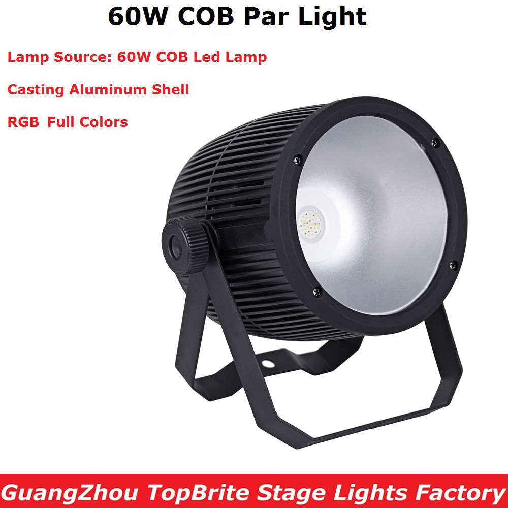 Aluminium Case COB Par Cans 60W High Brightness RGB 3IN1 LED Par Lights 3/7 DMX Channels For Party Wedding XMAS Dj Shows-in Stage Lighting Effect from Lights & Lighting    1