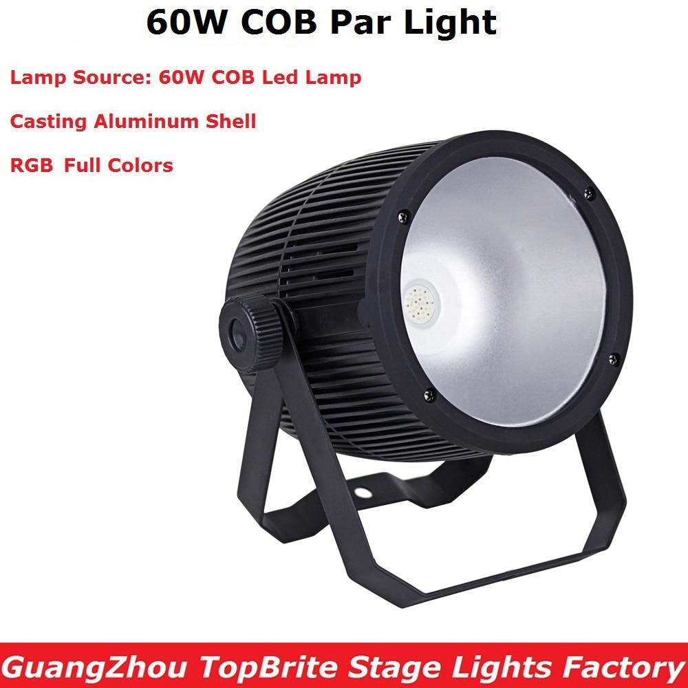 Aluminium Case COB Par Cans 60W High Brightness RGB 3IN1 LED Par Lights 3/7 DMX Channels For Party Wedding XMAS Dj Shows