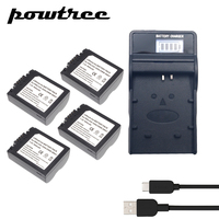 4Packs 7.2V 900mAh CGA S006 Li ion Battery+1Port BatteryCharger with LED for Panasonic CGR CGA S006E S006 S006A DMW BMA7 FZ7 FZ8