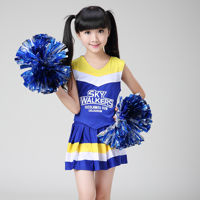 Costume Women Blue White Yellow Sport Fancy Sexy Cheerleader Red Dress Cheer Uniforms Kids Girls Sportswear Aerobics Uniforms