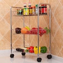 High Grade Stainless Steel Storage Rack Bathroom Storage Holders Kitchen Organizer Storage Rack With Universal Wheel