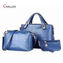 ร้อนขายผู้หญิงคอมโพสิตถุงที่มีคุณภาพสูงหนังPuจระเข้กระเป๋าสะพายC Rossbodyกระเป๋าหรูหราเสื้อผ้าแบรนด์วินเทจสีฟ้าSac Z2