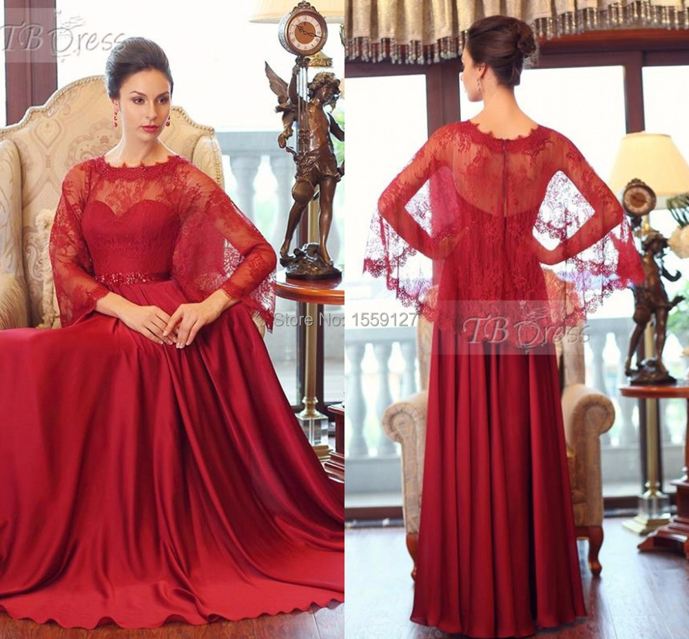 Unique Design 2017 Dark Red Prom Dresses With Lace Jacket High Neck ...
