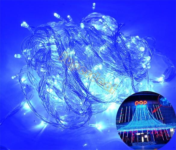 2 Unidades/lotes Por Atacado 220 V UE Decoração Do Feriado Corda Iluminação de Natal Luzes LED String Luzes De Natal 50