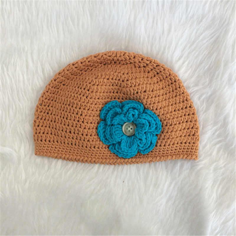 Copii nou-născuți croșetat Pat Hat pălărie de pălărie 0-3 luni - Haine bebeluși