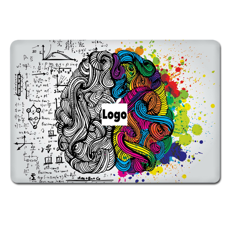 Ycsticker laptop sticker top vinyl decal left right brain color ycsticker laptop sticker top vinyl decal left right brain color skin for apple macbook air retina pro 11 12 13 15 notebook in laptop skins from computer gumiabroncs Gallery