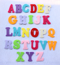 300pcs/lot 40mm non-woven fabrics capital Letter Alphabet mixed educational toys patch applique for DIY needle craft Works