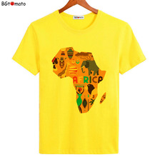 BGtomato New arrival The Map of Africa creative T shirts for Men Brand good quality Comfortable Tops Summer cool Shirts