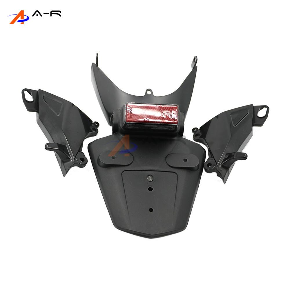Exhaust Support Side Guard Fairing Cover Rear Mudguard Fender License Plate Tag Holder w/ Light for Honda CBR600RR F5 2005-2006 front plastic number plate fender cover fairing for honda crf100 crf80 crf70 xr100 xr80 xr70 style dirt pit bike