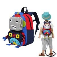 kids baby bags Infant Anti Lost Bag Backpack Baby Bag Kids Boys Girls Machine Robot Toys Waterproof Oxford Cotton Preschool Bag