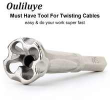 4-6 Square Twisting Wire Stripping Connector Electrician General Automatic 5 Quick Twist Tools
