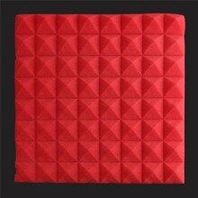 6pcs/Set 500x500x55mm Acoustic Sound Stop Absorption Foam Pyramid Studio Soundproof Sponge For KTV Drum Room Accessories