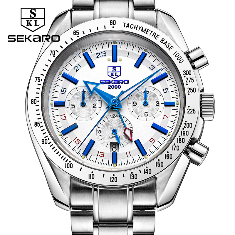 Sekaro Mens High Quality Mechanical Wristwatch Watches Men Top Brand Luxury Business full steel watch Man Relogio Masculino sapphire automatic mechanical watch classic mens watches top brand luxury fashion male wristwatch high quality relogio masculino