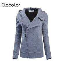 Clocolor font b women b font coat Solid Color Hooded Long Sleeve font b Women s