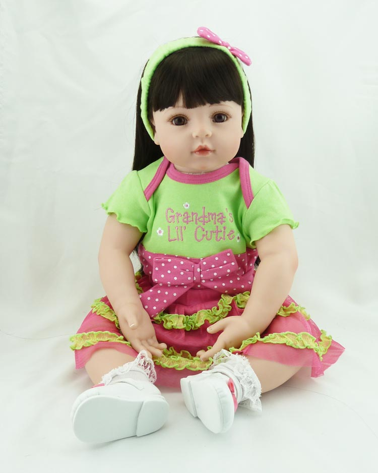 55CM Baby-reborn Girl Doll Handmade Doll Soft Silicone Vinyl Fashion Doll Lifelike Boneca Reborn Baby Toys for Kids Gifts салфетка губчатая aqualine 23 х 17 см 3 шт