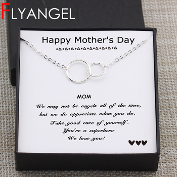 Circles Necklace  Happy Mother's Day Gifts Card