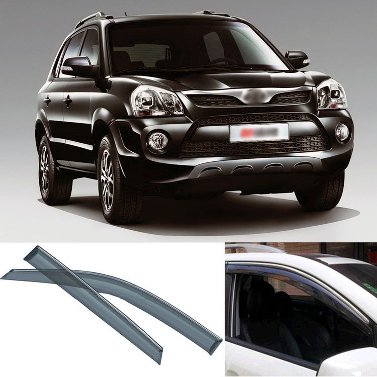4pcs Blade Side Windows Deflectors Door Sun Visor Shield For Hyundai Tucson 2013 4pcs blade side windows deflectors door sun visor shield for toyota verso ez 2011 2014