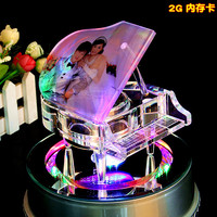 Crystal Piano Fashion Crystal Glass Led Lighting Base Show Pretty Beautiful Lamp Rotating Rotate Base Stand
