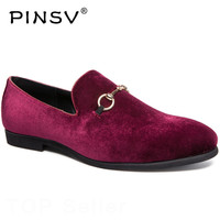 Size 38 47 Leather Shoes Men Loafers Red Oxfords Shoes Men Footwear Spring Casual Shoes Male Sapato Masculino PINSV