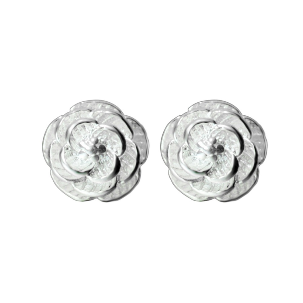 QIAMNI-10pcs-925-Sterling-Silver-Beautiful-Flower-Stud-Earrings-for-Women-Girl-Jewelry-Wedding-Party-Accessories