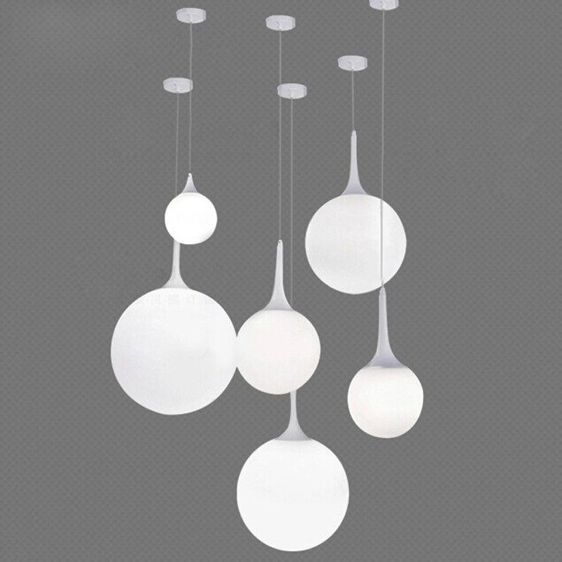 Modern Italy Designer Bedroom Pendant Lights Beaver White Glass Lampshade  Pendant Lamp Fixtures E27 Led Coffee