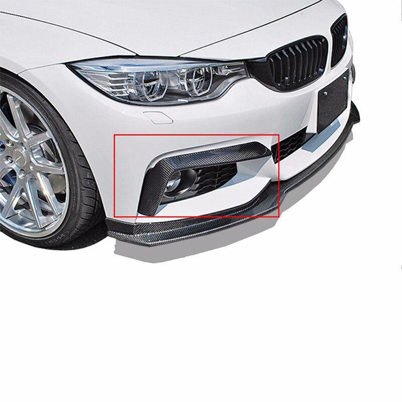 F32 F33 F36 420i 425i 430i 440i M-Sport M tech Carbon Fiber Side Fender Air Vents Kit Trim Cover For BMW 2014 2015 2016 carbon fiber frp front lip chin spoiler apron for bmw 3series f30 m tech m sport bumper 2013 2017