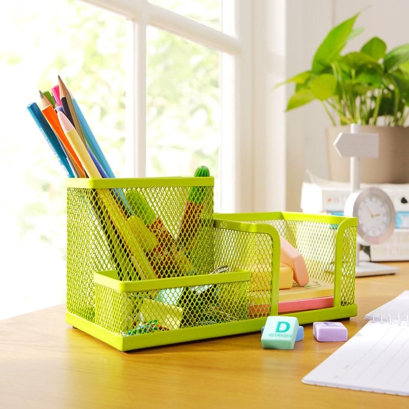 Colorful Metal Desktop Stationary Holder , Office Desk ...