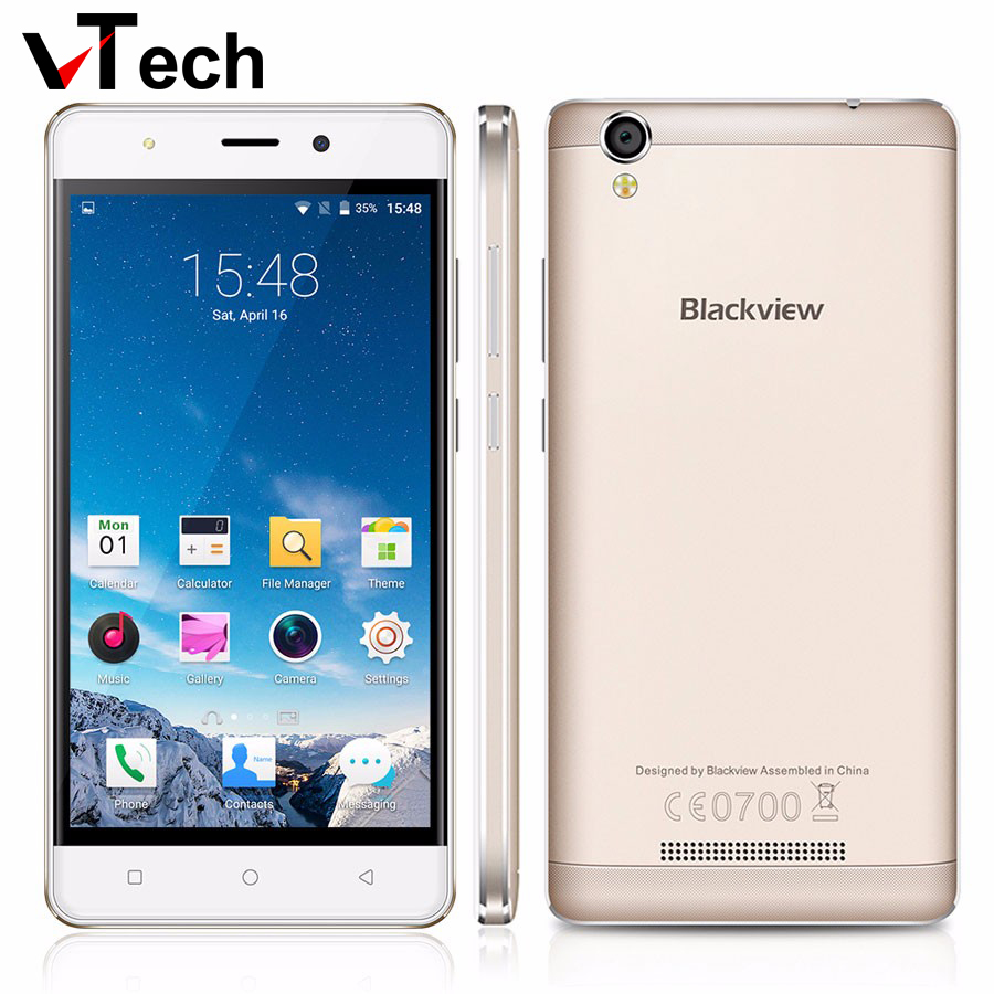 Original Blackview A8 MTK6580 5 inch 1280x720 IPS HD Quad Core Android 5 1 Mobile Cell