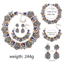 BK Bohemian Bridal Jewelry Sets Stainless Steel Set For Women Earrings Necklace Bracelet Sets Statement Wedding Jewelry Set недорого