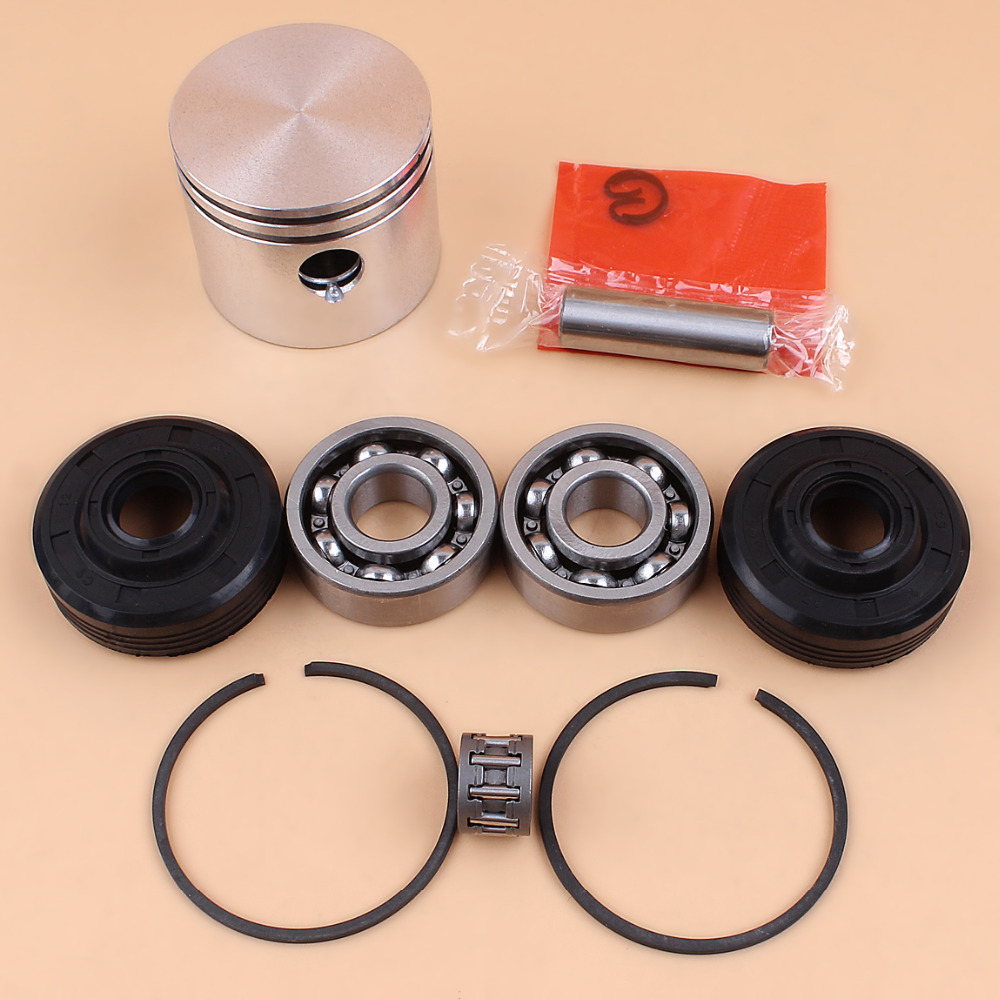 41mm Piston Ring Ball Bearing Oil Seal Kit For Partner 350 351 352 370 371 390 401 420 Chainsaw Engine Motor Parts