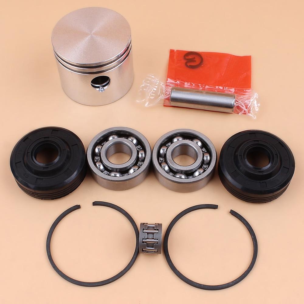 41mm Piston Ring Ball Bearing Oil Seal Kit For Partner 350 351 352 370 371 390 401 420 Chainsaw Engine Motor Parts