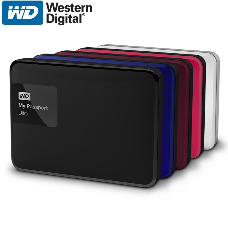 WD My Passport Ultra 2TB External Hard Drive Disk Portable HDD HD Harddisk 2.5 SATA USB 3.0 Storage Container Box for Laptop корпус для hdd orico 9528u3 2 3 5 ii iii hdd hd 20 usb3 0 5