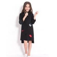 ילדי שמלה שחור שיפון חולצה עבור בנות נערות בגדי 5 7 9 10 12 14 שנים ארוך שרוול נצנצים ילד ילדה שמלה