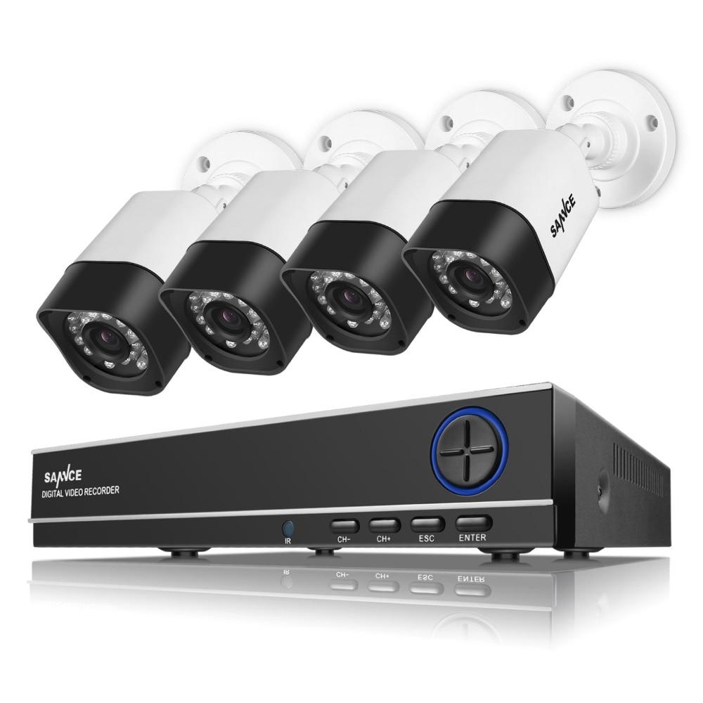 SANNCE 4CH CCTV System 720P AHD DVR HDMI 4PCS 720P IR Night Vision ...