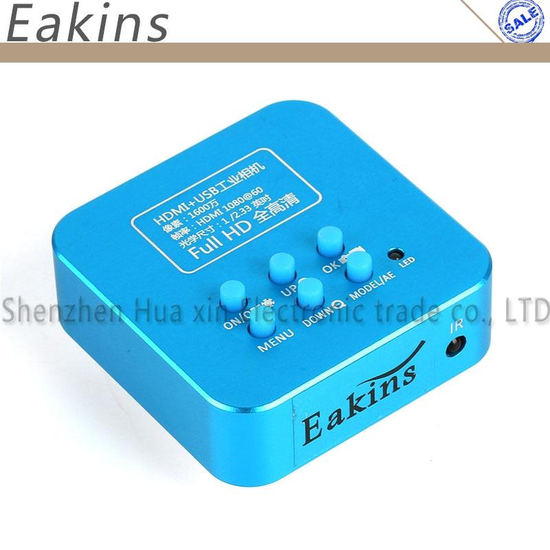 Eakins 16MP Full P 1080 P 60FPS HDMI USB HD выход TF карта хранения видео промышленность c-крепление микроскоп Видео