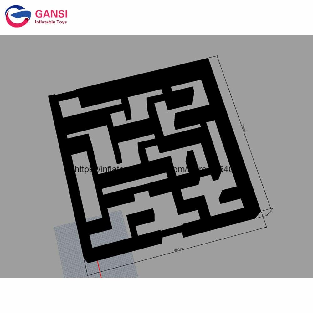 Labyrinthe gonflable de laser de parc d'attractions pour des enfants et des adultes, labyrinthe gonflable de haute qualité de 10*10*1.8 m pour le jeu interactif