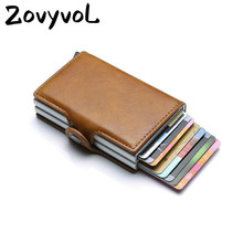 ZOVYVOL 2019 Unisex Business Credit Card Holder Wallet Metal Blocking RFID Wallet ID Card Case Aluminium Travel Purse Wallet travel slim wallet business card