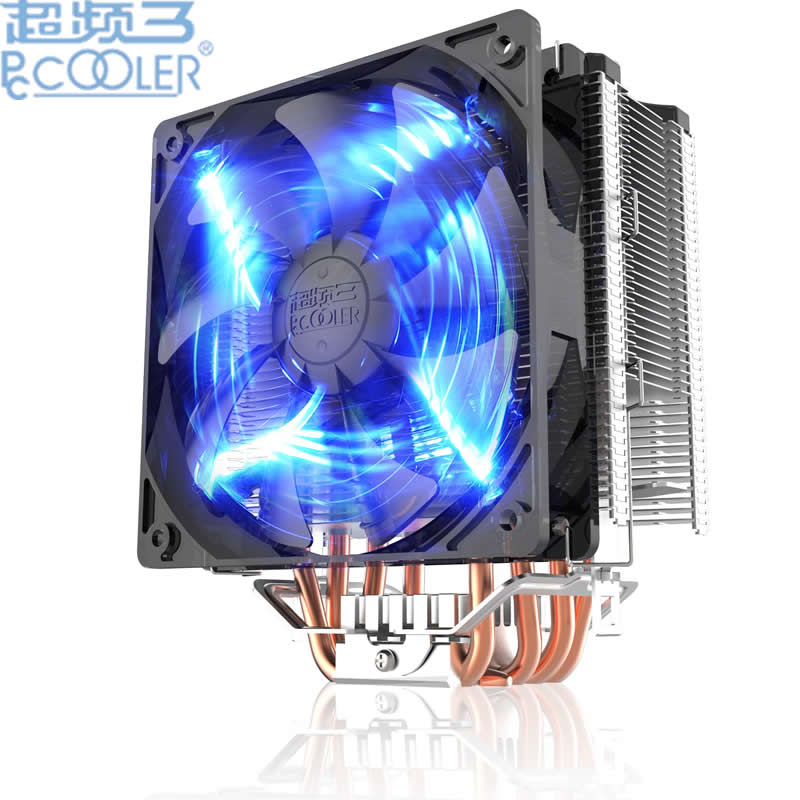 PcCooler X5 5 heatpipe 12cm fan PWM heatsink CPU cooler fan cooling for Intel 775 1151 115x 1366 2011 radiator for AMD pccooler donghai x5 4 pin cooling fan blue led copper computer case cpu cooler fans for intel lga 115x 775 1151 for amd 754