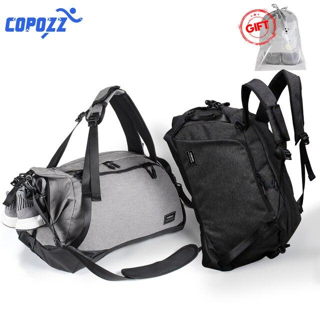 COPOZZ сумка для спортзала 35-55L с обувью отсек водостойкая сумка унисекс рюкзак через плечо поддержка прочный фитнес дорожные сумки