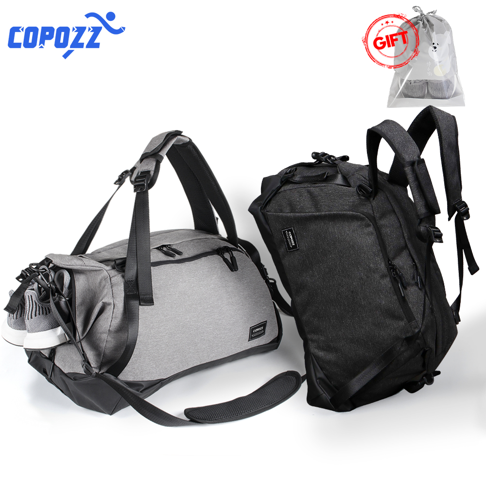 COPOZZ Sport Gym Bag 35 55L with Shoes Compartment Waterproof Bag Unisex Backpack Crossbody Support Durable Fitness Travel Bags